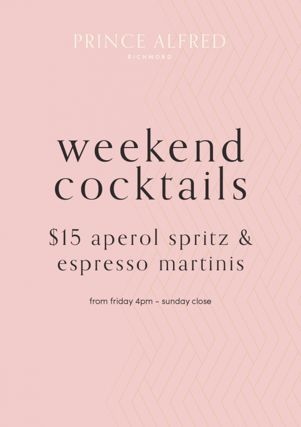 $15 aperol spritz espresso martini cocktails special richmond